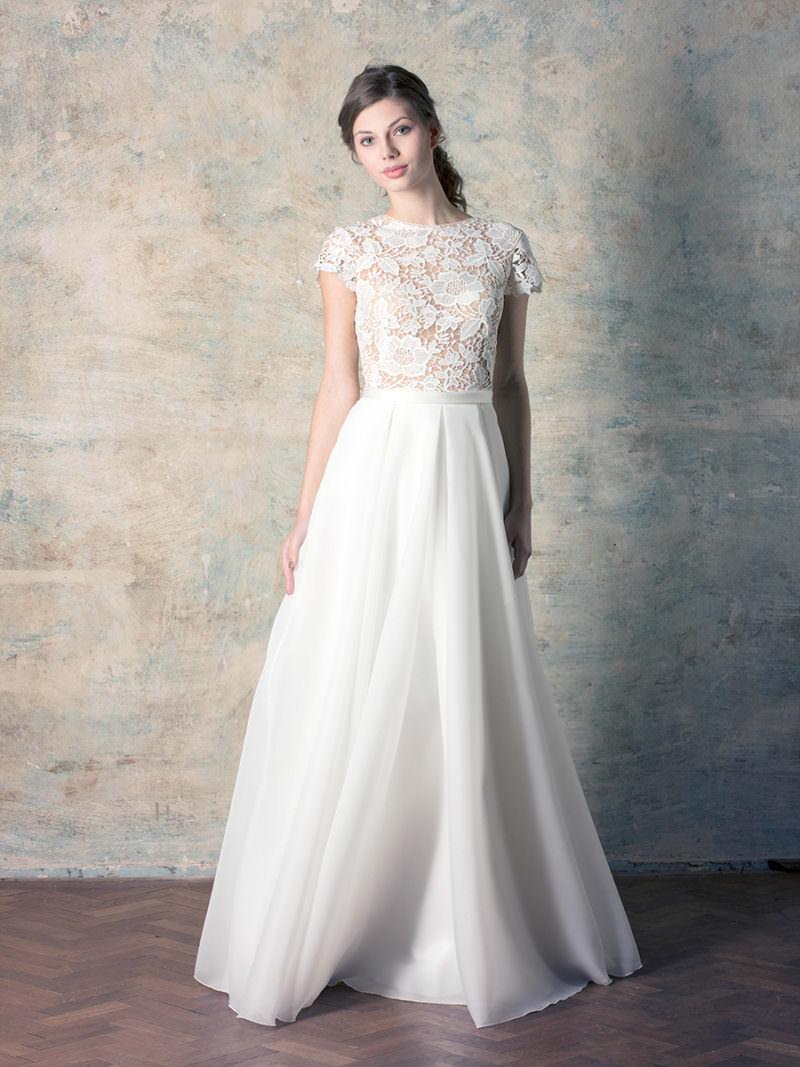 rochie de mireasă prințesă cu dantelă macrame